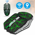 Wireless Mouse LED Backlit Rechargeable Optical Gaming 2.4GHz Mice For Laptop PC