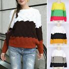 Women Jumper Breathable Knitted Pullover Tops Loose Hollow Sweater Round Neck