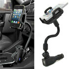 Dual 2 USB Ports Car Cigarette Lighter Charger Mount Holder For Cell Phone ! ❤