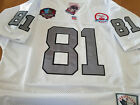 White BRAND NEW Oakland Raiders #81 Tim Brown 50th patch sewn Jersey Free shipp $65.96 USD on eBay