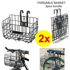 Foldable Bike Basket Portable Rack Extra Storage Front Rear Carrier Bag Bicycle