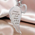 Angel Wings Crystal Pendant Necklace 925 Sterling Silver Chain Womens Jewellery