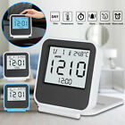 Digital LCD Display Backlight Desk Table Alarm Clock Snooze Thermometer Calendar