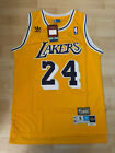 NWT Kobe Bryant24 Los Angeles Lakers Hardwood Classics Sewn Yellow / Gold Jersey