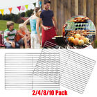 2/4/8/10X HEAVY DUTY STAINLESS STEEL BRICK BBQ REPLACEMENT COOKING GRILL 45*30cm