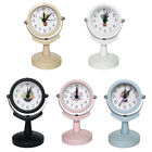 2inch Small Round Silent Sweep Analog Alarm Clock Non Ticking Time Battery