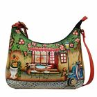 Anna by Anuschka Genuine Hand Painted Leather | Large Hobo