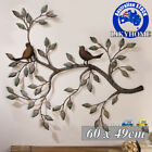 Metal Wall Hanging Art Tree Of Life Iron Decor Bird Leaves Retro Home  Ornament