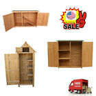 Wooden Garden Shed Outdoor Store Cupboard Tool Storage Lawn Mower Wood Cabinet D