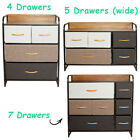 Chest of Fabric Drawers Dresser Furniture 3/4/5 Bins Bedroom Storage Organizer <br/> ✔ Top Quality ✔ Best Price ✔ Fast Shipping ✔ 3-YR WRTY