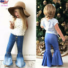 Children Toddler Kids Baby Girl Clothes Flare Jeans Denim Pants Long Trousers US