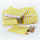 Yellow Candy Stripe Sweet Paper Bags Buffet Gift Party Bags Wedding Cake Bag