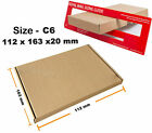 C6 - 112x163x20 mm Royal Mail Large Letter Cardboard Postal Mailing PIP Boxes 4U