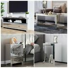New Mirrored Coffee Table Storage TV Stand Cabinet Bedside Table Glass Furniture