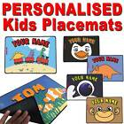 Fun Personalised Placemats For Kids – Children dinner Washabletable placemat
