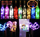 5/ 10pc Wine Bottle Fairy String Lights 20 LED Battery Cork For Party Wedding 2M