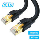 Cat 8 Ethernet Cable 40Gbps RJ45 Network LAN Internet Cable Patch Cord