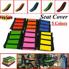 USA STOCK Universal Gripper Soft Motorcycle Seat Cover Rib Skin Rubber Dirt Bike image