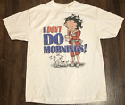 Vintage 2002 I Dont Do Mornings Betty Boop White Men T Shirt Size S-234XL A1220 $19.94 USD on eBay