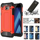 For Samsung Galaxy A3 A5 A7 2017 Matte Heavy Duty Bumper Armor Case Rubber Cover