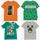 Boys Girls Minecraft / Fortnite T Shirt Top Creeper Gamer Age 4 - 16 Years