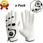 Golf Gloves Left Right Hand for Men with Ball Maker All Weather Grip US