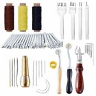 Leather Craft Tools Sewing Stitching Punch Carving Work Saddle Groover Set Edge