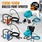 Electric Airless Paint Sprayer Home DIY Painting Gun Spray Station 1200W 1500W