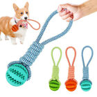 Pet Dog Puppy Cotton Rope Leakage Food Ball Molar Bite Resistant Chew Play Toy W