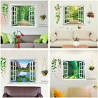 Fake Window Scenery Wall Sticker Decal Vinyl Art Mural Home Decor Removable New
