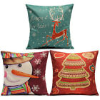 Christmas Series Linen Cotton Throw Pillow Case Cover Home Decoration image