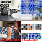 180pcs Kitchen Tile Stickers Bathroom Mosaic Sticker Self-adhesive Wall Decor