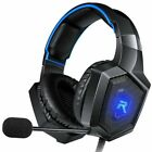 RUNMUS Black Stereo Over Ear Headsets for Xbox One, Playstation 4