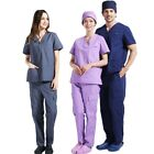 Men Women Scrubs Hospital Dental Medical Surgical Gown Doctcor Woking Clothes
