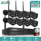Zoohi 1080P 3000TVL Wireless Home Security Camera System 4/8CH NVR Video P2P APP for sale  Shipping to Nigeria