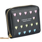 Black/Red/Blue/Pink Women Puese Card Photo Holder Leather Wallet Gift for Lady