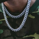 Men's18K Gold Chain Iced Out Diamond Thick Miami Cuban Link Chain Neclace Cool