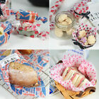 Wrapping Packaging Paper Disposable Food Greaseproof 50Pcs Paper Soap Wax Paper