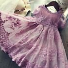 Children's Clothing Baby Girl Princess Dresses Lace Flower Embroidery Design