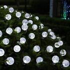 Fairy Lights String Crystal Ball Garden Outdoor Lamp UK 20 30 50 LE Solar Power
