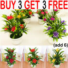 Outdoor Flower Fake False Plants Flowers Artificial Garden Decor With Pot Yy
