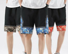 Summer Men's Chinese Style Linen Shorts Pants Beach Trousers Loose Comfort jy00