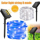 Solar 100 LED Light Glow Wire String Strip Rope Tube Car Dance Party Controller