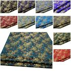 Faux Silk Brocade (Medium Size Flora) Jacquard Damask Kimono Fabric Material*Bu1