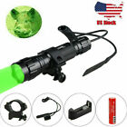 5000LM Green Red White LED Coyote Predator Hunting Light Flashlight Scope Mount