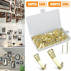 100pcs 30/50LB Picture Photo Oil Painting Mirror Frame Hook Wall Hanger + Screw