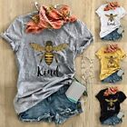 Summer Women Bee Kind Print Top Tee Inspirational Be Kind T Shirt Fashion Blouse