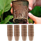 100Pcs Biodegradable Fibre Plant Pots - Growing Garden Seed Flower Potting YY