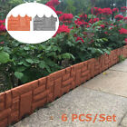 6 Pcs Garden Fence Lawn Boarder Patio Fence Edge Fencing Panels Landscaping Diy