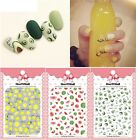 Women Fruits Patterns Nails Art Manicure Decal Decorations Sticker For Nails Tip